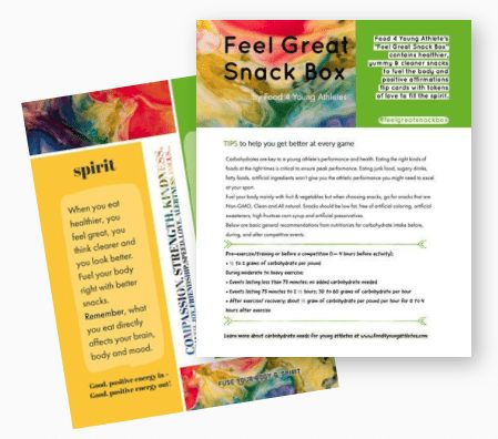 tip card health - Feel Great Snack Box