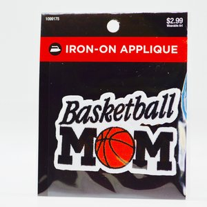 basketball mom iron-on